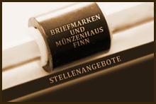 Stellenangebote - Briefmarken- und Münzenhaus Finn